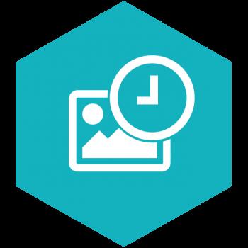 Flatshot Icon Zeitraffer